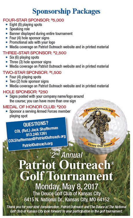 Patriot Outreach Golf Sponsership Packages