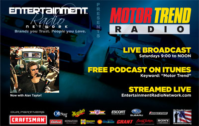 Alan Taylor, Motor Trend Radio airs 3 Patriot Outreach PSAs